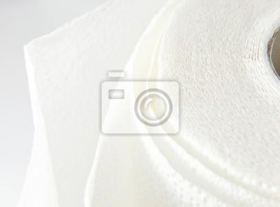 serviette en papier blanc.
