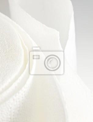serviette en papier blanc
