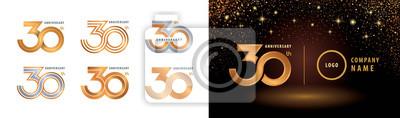 Papiers peints Set of 30th Anniversary logotype design