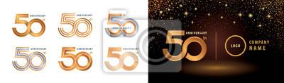 Papiers peints Set of 50th Anniversary logotype design