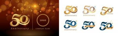 Papiers peints Set of 50th Anniversary logotype design, Fifty years Celebrating Anniversary Logo