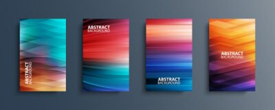 Papiers peints Set of abstract color backgrounds with wave or line patterns. Colorful gradient covers collection for brochures, posters, banners, flyers and cards. Vector illustration.