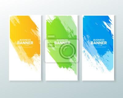 Papiers peints Set of business vertical banner with watercolors splash.