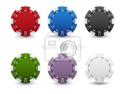 Papiers peints Set of casino chips