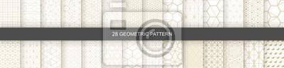 Papiers peints Set of Geometric seamless patterns. Abstract geometric  hexagonal  graphic design print 3d cubes pattern. Seamless  geometric cubes pattern.