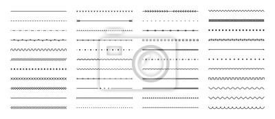 Papiers peints Set of hand drawn vector line border. Lines, borders, underline pencil strokes, drawing dividers. Doodle design. Geometric vintage fashion collection.
