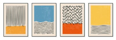 Papiers peints Set of minimal 20s geometric design posters, vector template with primitive shapes elements