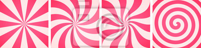 Papiers peints Set of sweet candy abstract backgrounds