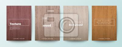 Papiers peints Set of wood texture background. Wooden board background for Brochure, Flyer, Poster, leaflet, Annual report, Book cover, Banner, Presentation, Website, App, wallpaper.