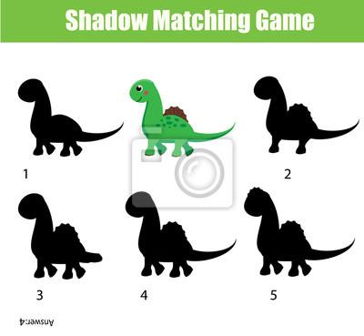 Shadow Correspondant Au Jeu Jeu Educatif Pour Enfants Avec