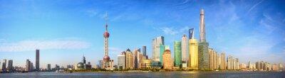 Papiers peints Shanghai skyline panorama, la Chine