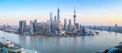 Papiers peints shanghai skyline panoramic view