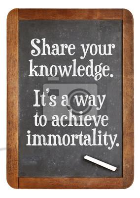 Papiers peints Share knowledge advice on blackboard