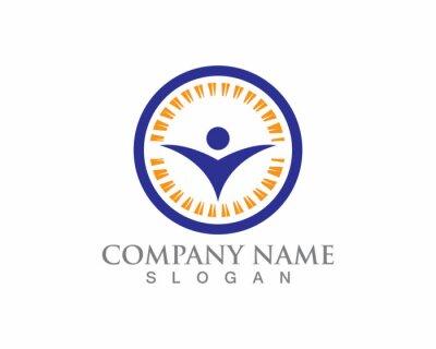 Signe de logo de caractère humain, logo de soins de santé. Signe de logo de la nature. Signe de logo vie verte