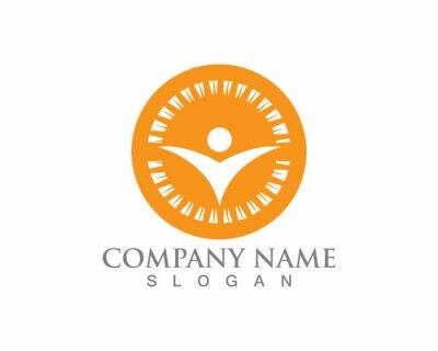 Signe de logo de personnage humain, logo de soins de santé. Signe de logo de la nature. Logo de la vie verte