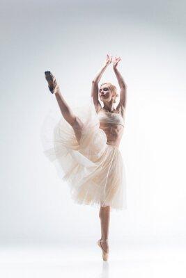 Papiers peints Silhouette, ballerine, blanc, fond