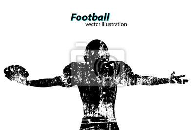 Papiers peints Silhouette d'un joueur de football. Le rugby. Footballeur américain