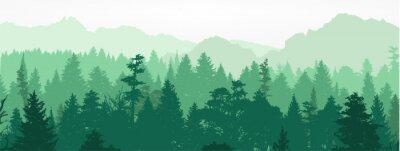 Papiers peints Silhouette de la forêt, illustration vectorielle.