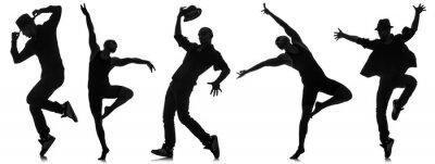Papiers peints Silhouettes, danseurs, danse, concept