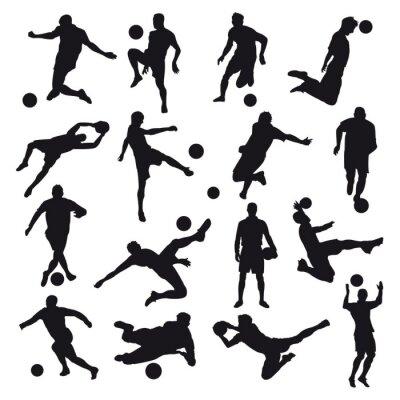 Papiers peints Silhouettes de football