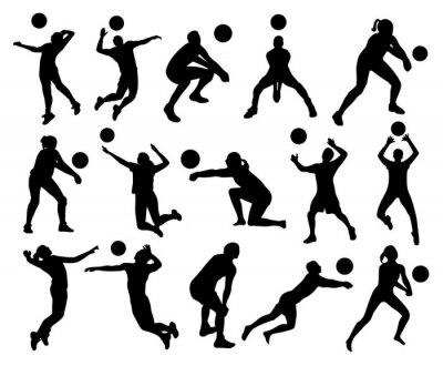 Papiers peints Silhouettes de volley-ball