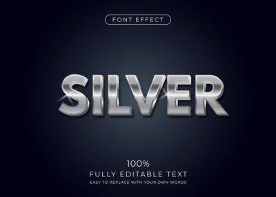 Papiers peints Silver text effect. Editable font style