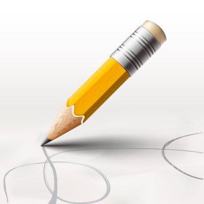 Papiers peints Simple crayon sur fond blanc, vecteur eps10.