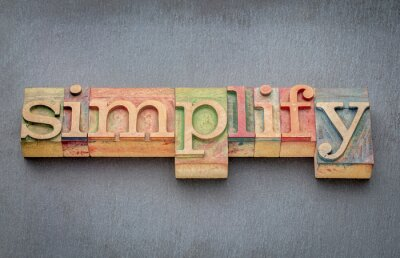 Papiers peints Simplifier le mot dans le type de bois