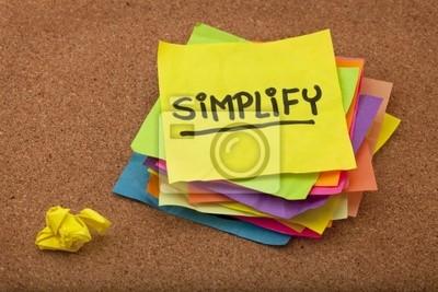 Papiers peints simplifier rappel