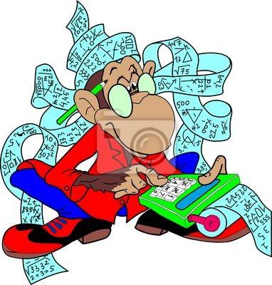 singe et calculatrice papier peint papiers peints macaque financier sensibilit. Black Bedroom Furniture Sets. Home Design Ideas