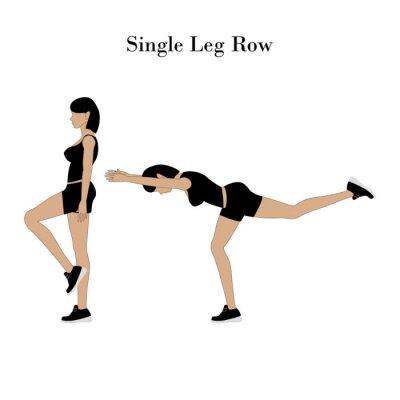 Papiers peints Single leg row exercise