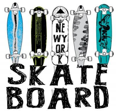 Papiers peints Skate board tipography, t-shirt graphiques