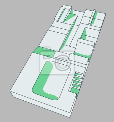 skatepark illustration vectorielle