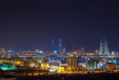 Papiers peints skyline de nuit de Manama, la capitale de Bahreïn
