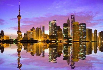 Papiers peints Skyline de Shanghai à l'aube