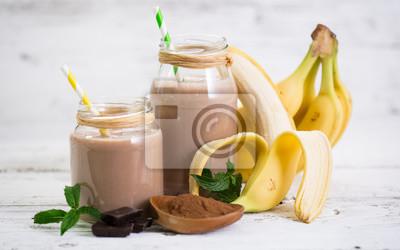 Smoothie à la banane et au chocolat
