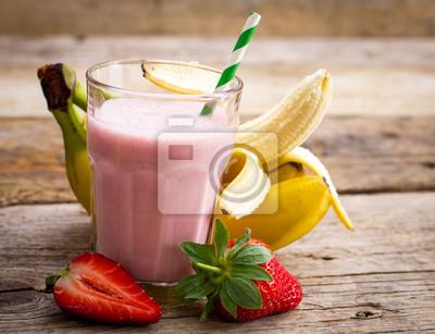 Smoothie fraise fraîche et banane