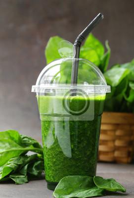 smoothies aux boissons vertes aux épinards - aliments sains