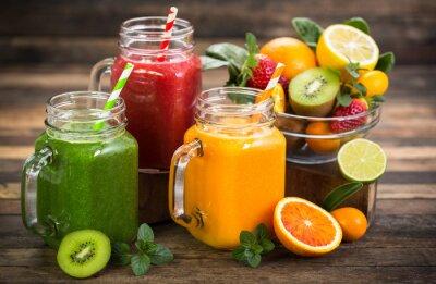 Smoothies de fruits et légumes santé