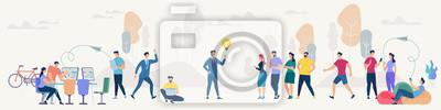 Papiers peints Social Network and Teamwork Vector Concept.