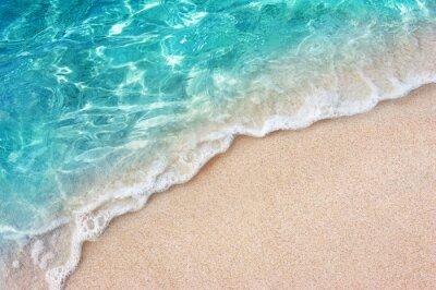 Papiers peints Soft blue ocean wave or clear sea on clean sandy beach summer concept