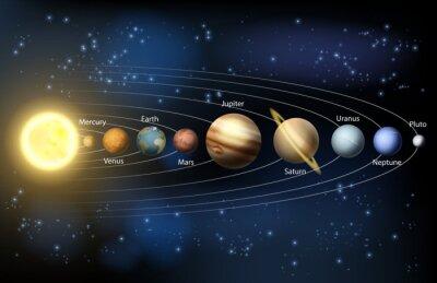 Papiers peints Soleil et les planètes du système solaire