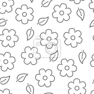 Souk Sakura Fleurs Et Feuilles Transparente Motif En Noir Et Papier
