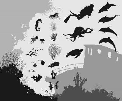 Papiers peints sous-marin