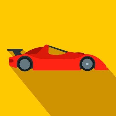 Papiers peints Speeding voiture de course icone plat