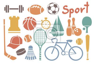 sport icône ensemble