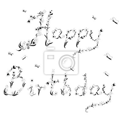 Spring time inspired Happy Birthday sign