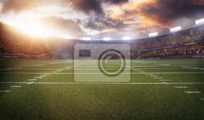 Papiers peints Stade de football américain 3D en rayons lumineux