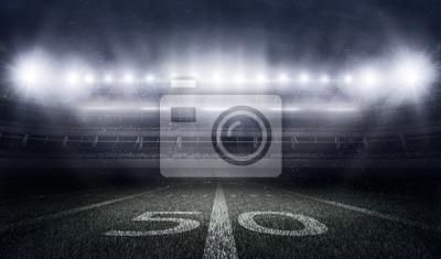 Papiers peints Stade de football américain aux lumières et aux éclairs