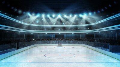 Papiers peints stade de hockey avec les spectateurs et une patinoire vide